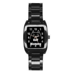 Love My Cat Mommy Stainless Steel Barrel Watch by Catifornia
