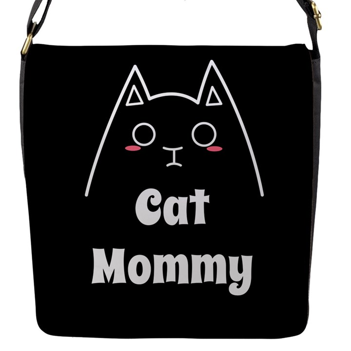 Love My Cat Mommy Flap Messenger Bag (S)