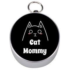 Love My Cat Mommy Silver Compasses by Catifornia