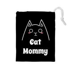 Love My Cat Mommy Drawstring Pouches (large)  by Catifornia