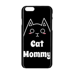 Love My Cat Mommy Apple Iphone 6/6s Black Enamel Case by Catifornia