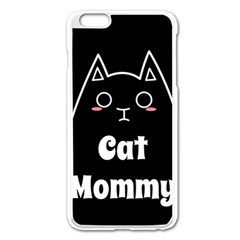 Love My Cat Mommy Apple Iphone 6 Plus/6s Plus Enamel White Case by Catifornia