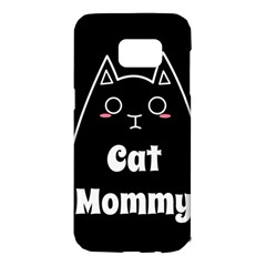 Love My Cat Mommy Samsung Galaxy S7 Edge Hardshell Case by Catifornia