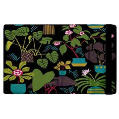 Wreaths Flower Floral Leaf Rose Sunflower Green Yellow Black Apple Ipad 2 Flip Case by Mariart