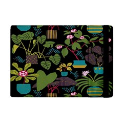 Wreaths Flower Floral Leaf Rose Sunflower Green Yellow Black Ipad Mini 2 Flip Cases by Mariart