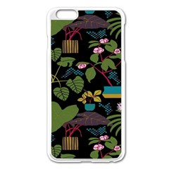 Wreaths Flower Floral Leaf Rose Sunflower Green Yellow Black Apple Iphone 6 Plus/6s Plus Enamel White Case by Mariart