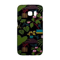 Wreaths Flower Floral Leaf Rose Sunflower Green Yellow Black Galaxy S6 Edge by Mariart