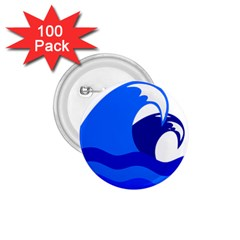 Blue Beach Sea Wave Waves Chevron Water 1 75  Buttons (100 Pack)