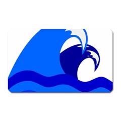 Blue Beach Sea Wave Waves Chevron Water Magnet (rectangular) by Mariart