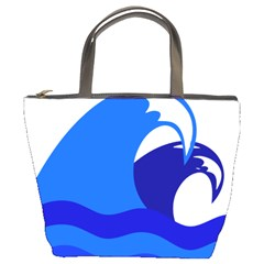 Blue Beach Sea Wave Waves Chevron Water Bucket Bags by Mariart