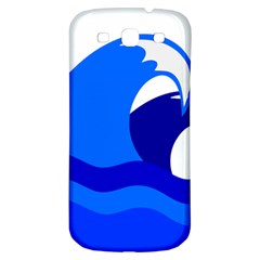 Blue Beach Sea Wave Waves Chevron Water Samsung Galaxy S3 S Iii Classic Hardshell Back Case by Mariart
