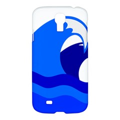 Blue Beach Sea Wave Waves Chevron Water Samsung Galaxy S4 I9500/i9505 Hardshell Case by Mariart