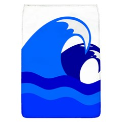 Blue Beach Sea Wave Waves Chevron Water Flap Covers (l)  by Mariart