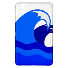 Blue Beach Sea Wave Waves Chevron Water Samsung Galaxy Tab Pro 8 4 Hardshell Case by Mariart