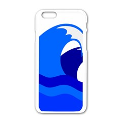 Blue Beach Sea Wave Waves Chevron Water Apple Iphone 6/6s White Enamel Case by Mariart