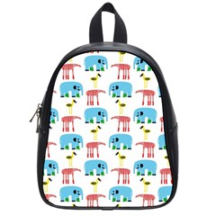 Animals Elephants Giraffes Bird Cranes Swan School Bags (small)  by Mariart