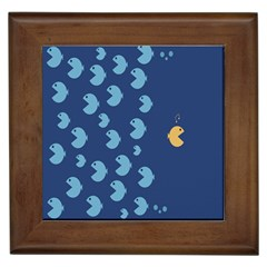 Blue Fish Sea Beach Swim Yellow Predator Water Framed Tiles by Mariart