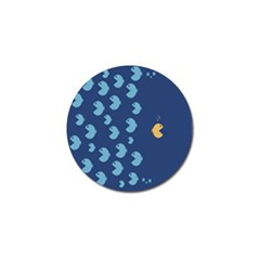 Blue Fish Sea Beach Swim Yellow Predator Water Golf Ball Marker (10 Pack) by Mariart
