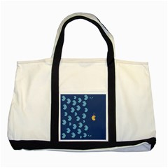 Blue Fish Sea Beach Swim Yellow Predator Water Two Tone Tote Bag by Mariart