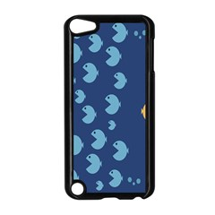 Blue Fish Sea Beach Swim Yellow Predator Water Apple Ipod Touch 5 Case (black) by Mariart