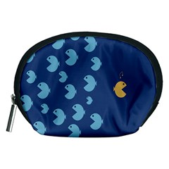 Blue Fish Sea Beach Swim Yellow Predator Water Accessory Pouches (medium)  by Mariart