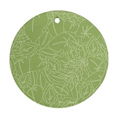 Blender Greenery Leaf Green Ornament (round)