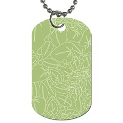 Blender Greenery Leaf Green Dog Tag (two Sides) by Mariart