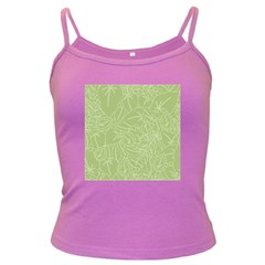 Blender Greenery Leaf Green Dark Spaghetti Tank by Mariart