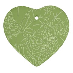 Blender Greenery Leaf Green Heart Ornament (two Sides) by Mariart