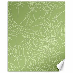 Blender Greenery Leaf Green Canvas 16  X 20   by Mariart