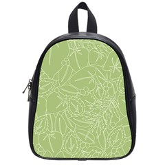 Blender Greenery Leaf Green School Bags (small)  by Mariart