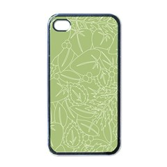 Blender Greenery Leaf Green Apple Iphone 4 Case (black) by Mariart