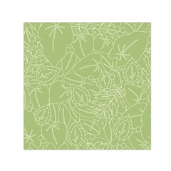 Blender Greenery Leaf Green Small Satin Scarf (square) by Mariart