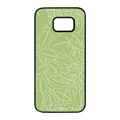 Blender Greenery Leaf Green Samsung Galaxy S7 Edge Black Seamless Case by Mariart