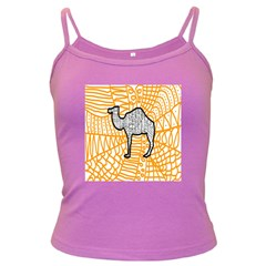 Animals Camel Animals Deserts Yellow Dark Spaghetti Tank by Mariart