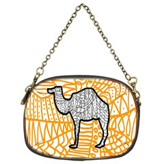 Animals Camel Animals Deserts Yellow Chain Purses (one Side)  by Mariart
