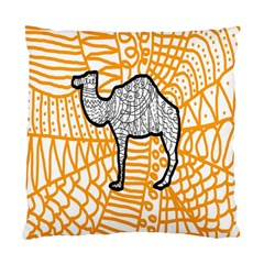 Animals Camel Animals Deserts Yellow Standard Cushion Case (one Side)