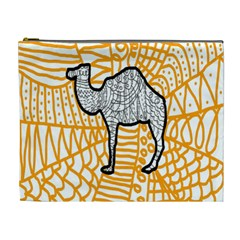 Animals Camel Animals Deserts Yellow Cosmetic Bag (xl) by Mariart