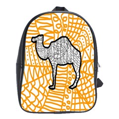Animals Camel Animals Deserts Yellow School Bags(large)