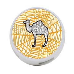 Animals Camel Animals Deserts Yellow 4 Port Usb Hub (one Side) by Mariart