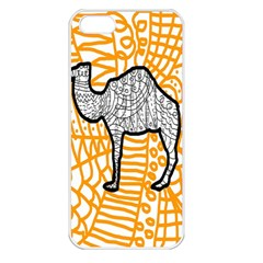 Animals Camel Animals Deserts Yellow Apple Iphone 5 Seamless Case (white) by Mariart