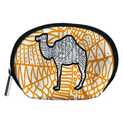 Animals Camel Animals Deserts Yellow Accessory Pouches (medium)  by Mariart