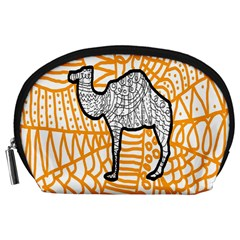 Animals Camel Animals Deserts Yellow Accessory Pouches (large)  by Mariart