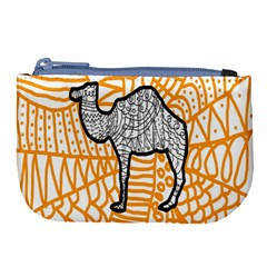Animals Camel Animals Deserts Yellow Large Coin Purse by Mariart