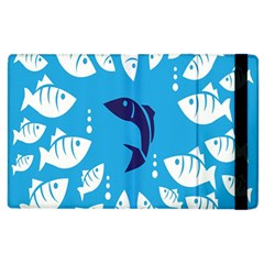 Blue Fish Tuna Sea Beach Swim White Predator Water Apple Ipad 2 Flip Case by Mariart