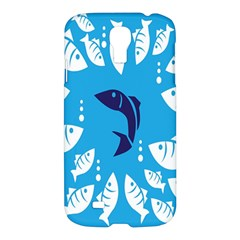Blue Fish Tuna Sea Beach Swim White Predator Water Samsung Galaxy S4 I9500/i9505 Hardshell Case by Mariart