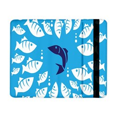 Blue Fish Tuna Sea Beach Swim White Predator Water Samsung Galaxy Tab Pro 8 4  Flip Case by Mariart