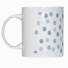 Bubble Balloon Circle Polka Blue White Mugs