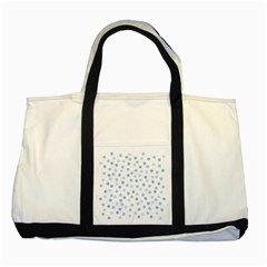 Bubble Balloon Circle Polka Blue Two Tone Tote Bag