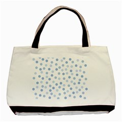 Bubble Balloon Circle Polka Blue Basic Tote Bag (two Sides) by Mariart
